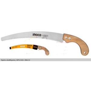 Ножовка по дереву пласт.кривая Ingco HРS3001